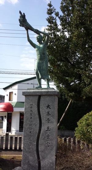 大善寺玉垂宮(久留米市大善寺町)鬼夜のモチーフ銅像