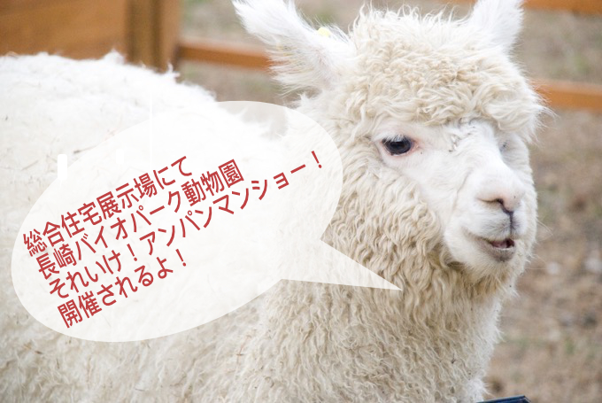 KBCマイホーム展久留米会場にて動物園・アンパンマンショー開催!