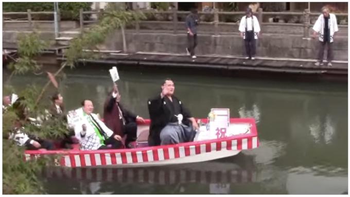 3月5日 琴奨菊関 柳川市内で優勝祝賀水上パレードと優勝報告会を開催!