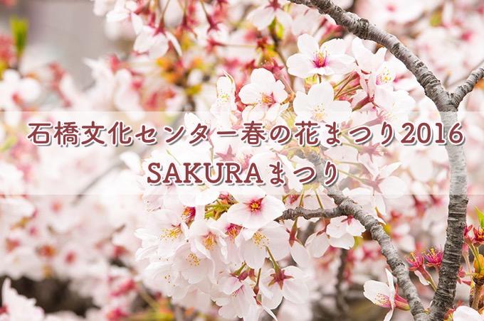 石橋文化センター春の花まつり2016『SAKURAまつり』探検やコンサート開催!