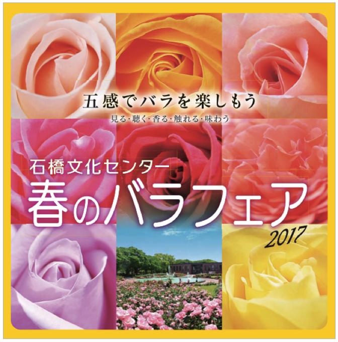 五感でバラを楽しもう!石橋文化センター「春のバラフェア2017」開催