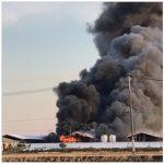 大きな火事発生!18時23分ごろ 福岡県久留米市三潴町生岩付近・大木町付近