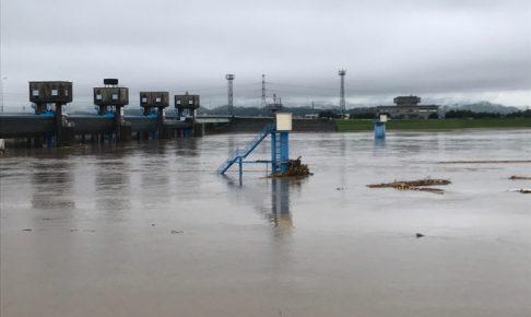 久留米 筑後川の状況を見てきました。筑後大堰と豆津橋の付近の状況