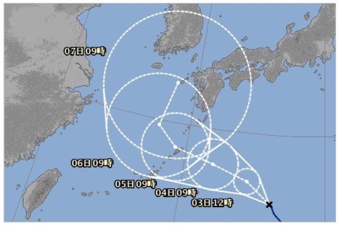 長寿 台風5号(ノルー)が九州に接近の恐れ。7日に上陸か。進路が気になる