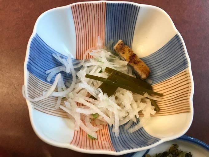 富松うなぎ黒田本店 小鉢