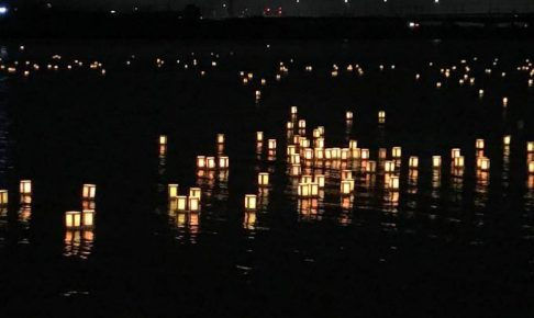 久留米流し灯籠に行ってきました。筑後川伝統の精霊流し