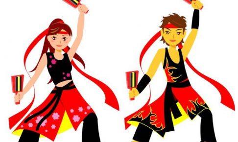 「第10回うきはYOSAKOI祭り」白壁通りでよさこい踊りを披露