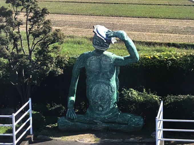 田主丸駅の河童の石像
