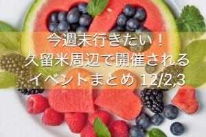 今週末行きたい!久留米周辺で開催されるイベントまとめ 12/2,3