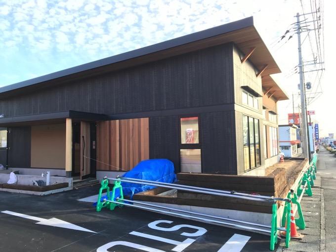 むさしの森珈琲 鳥栖古賀町店店舗側面建設中