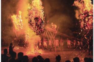 鬼の修正会(しゅじょうえ)無病息災を祈願する火祭り!筑後市熊野神社にて開催