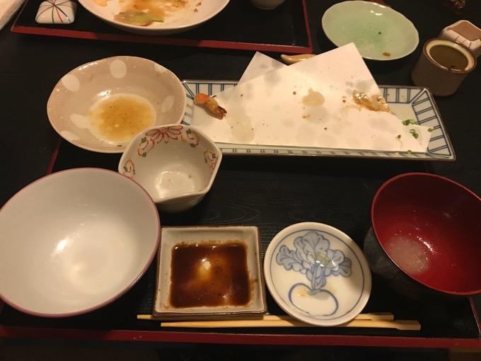 久留米市 創作和食ダイニング 櫻舞 料理完食