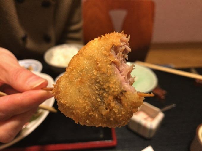 久留米市 創作和食ダイニング 櫻舞 串揚げ 肉
