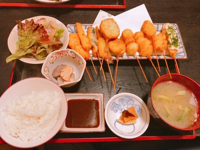 久留米市 創作和食ダイニング 櫻舞 串揚げ定食