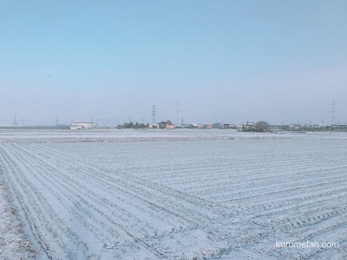 久留米市 連日、雪景色!道路凍結 車の運転に注意!