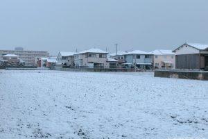 久留米市 雪が積もる 少々の積雪 外はかなり寒い!