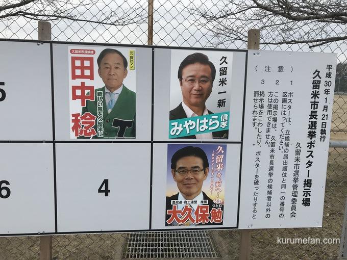 久留米市長選挙 2018