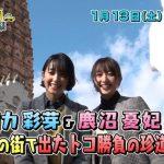 剛力彩芽と鹿沼憂妃が久留米 成田山に!TVQ ちょっと福岡行ってきました!1月13日放送