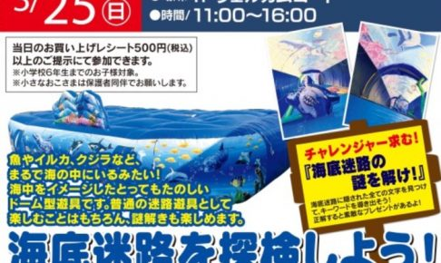 海底迷路ドームを探検しよう!「海底迷路の謎を解け!」ドーム型遊具が登場