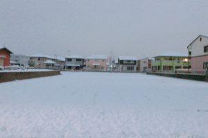 久留米市 雪景色!短時間で雪積もる 高速道路通行止による運行見合わせ路線も