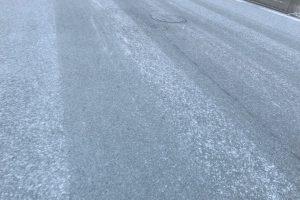 久留米市 運転注意!凍結 路面がシャーベット状!