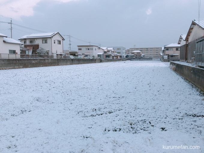 今日も久留米は降雪 少々の積雪 西鉄バス一部路線運行見合わせ