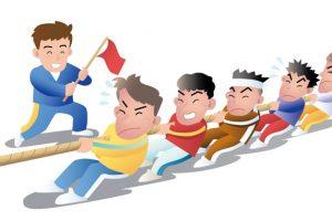 第10回県境フェスティバル「天建寺橋大綱引き大会」福岡150人vs佐賀150人大綱引き!