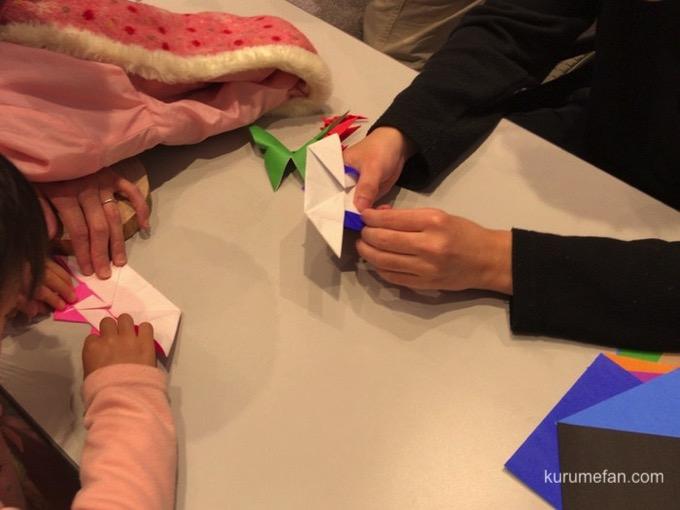 久留米ボランティアフェステバル 折り紙作り