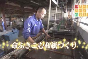 世界一の九州が始まる!命ふきこむ和紙づくり 八女市の手漉き和紙職人が登場!