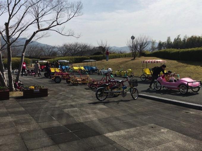 久留米サイクルファミリーパークにあるたくさんのおもしろ自転車