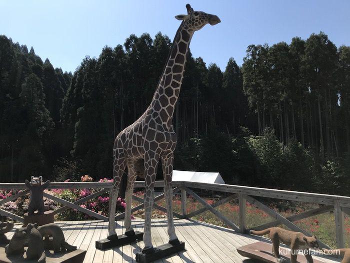 星の花公園 木彫りの動物園 キリン