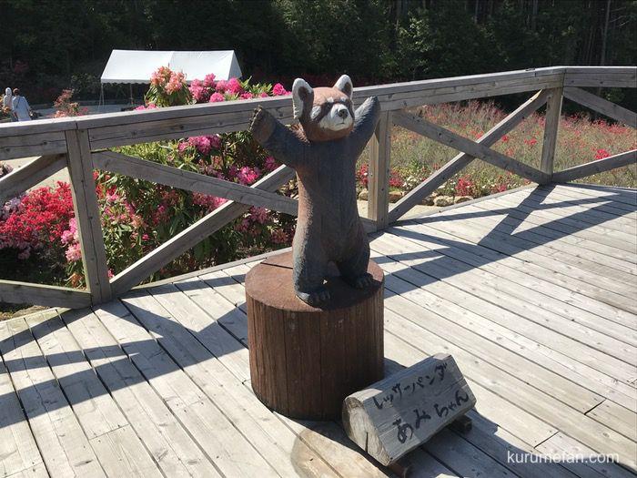 星の花公園 木彫りの動物園 レッサーパンダ