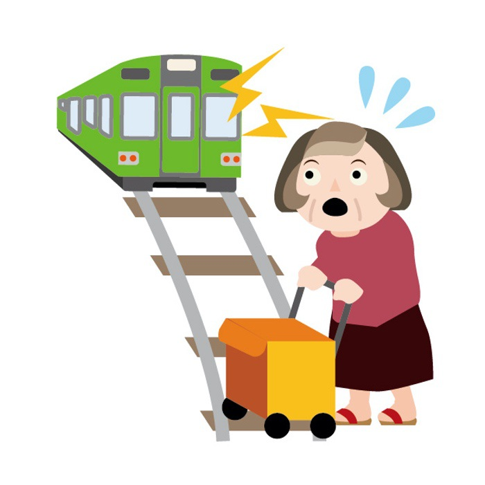 久留米市田主丸町 JR久大線踏切 列車と衝突 女性死亡
