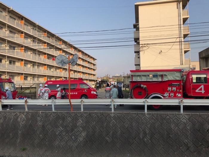 久留米市梅満町で火災 大隈公園 西側付近【火事情報】