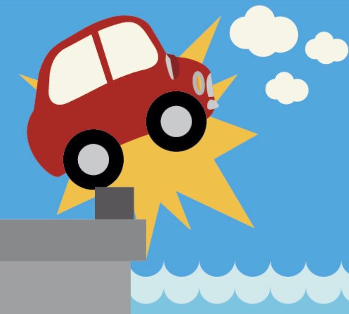 柳川市 沖端川下流の船着場で車が川に転落 男性死亡