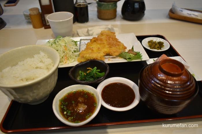 定食 馬乃米 マグロカツ定食