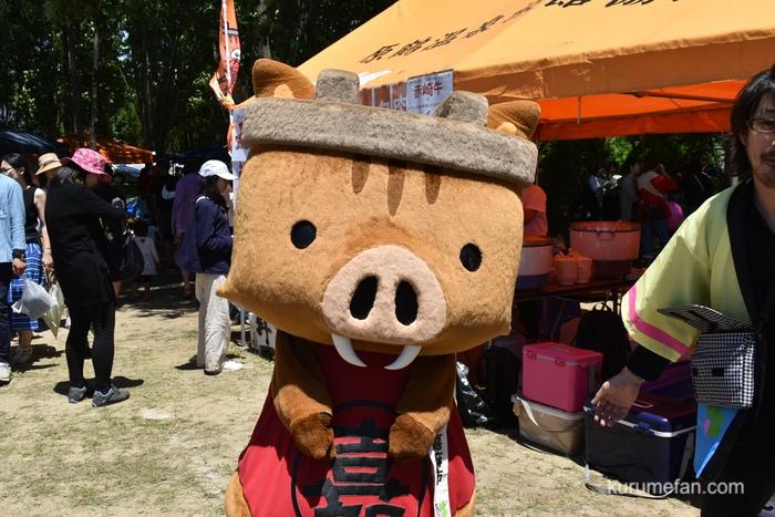 第4回 あさくら絆フェスティバル会場内 嘉麻市 かまししちゃん
