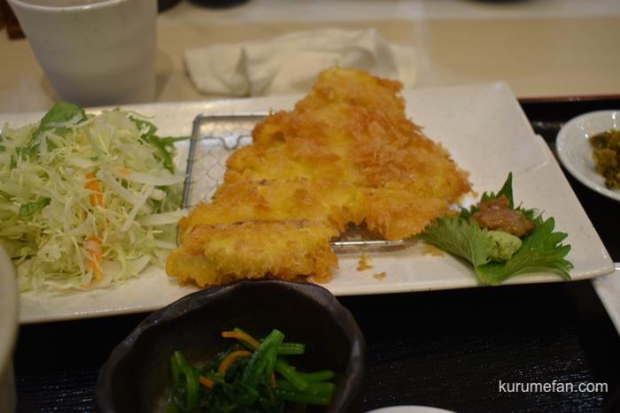 定食 馬乃米 マグロカツ定食のマグロカツ