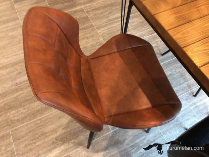 FUKU CAFE 鳥栖 座り心地の良い椅子