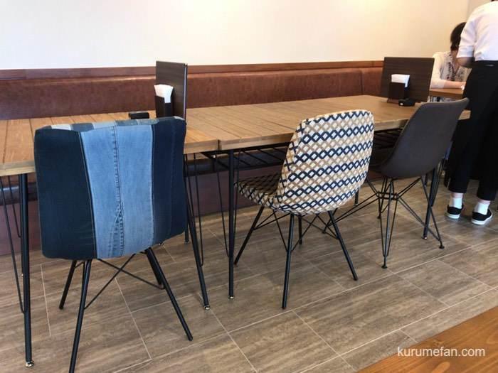FUKU CAFE 鳥栖 オシャレな椅子