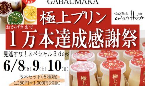 くるめ夢菓子家 ムッシュウヒロ 「極上プリン1万本達成感謝祭」3日限定!超お得に!