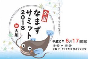 「全国なまずサミット2018 IN 大川」大川テラッツァにて料理の試食販売