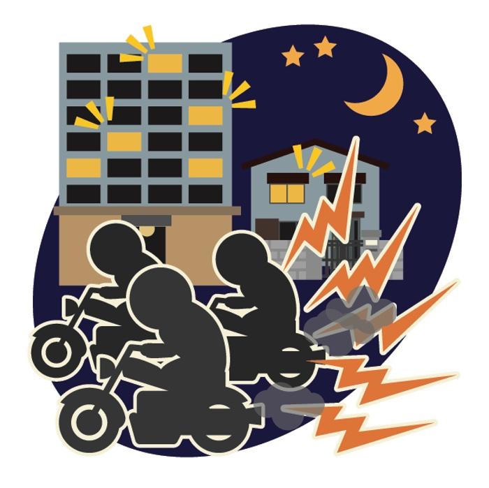 成人式帰りに暴走行為 久留米市内の7人を道路交通法違反で摘発