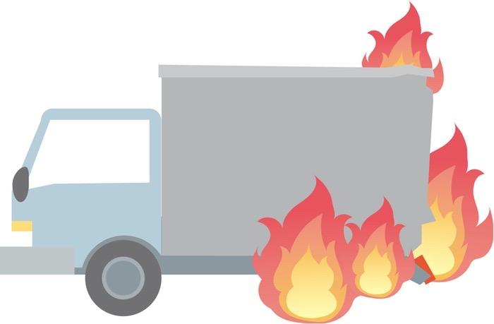 九州道 みやま柳川IC〜八女ICでトラックが火災 通行止めに【車両火災】