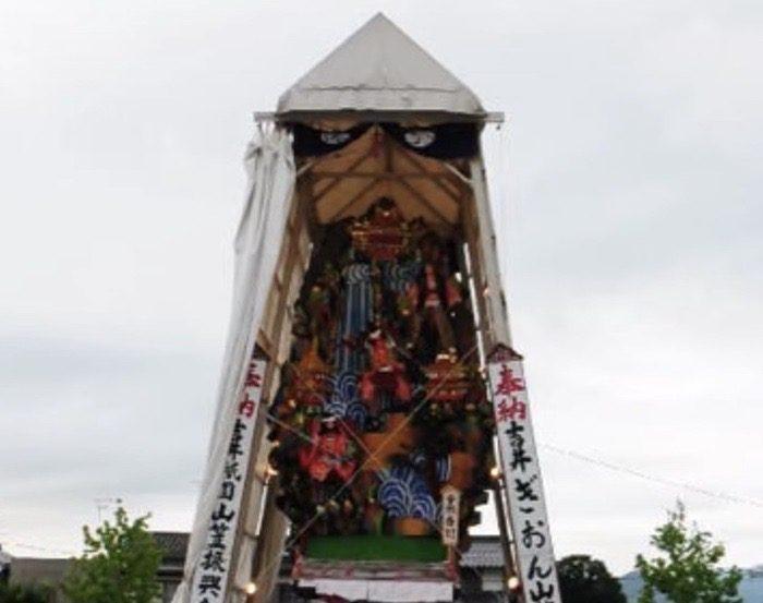 うきは市「吉井祇園祭り」飾り山笠、祇園囃子、夜店等でにぎわう夏の一大風物詩