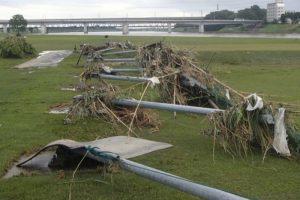 久留米市 長門石ゴルフ場 大雨による甚大な被害で臨時休業