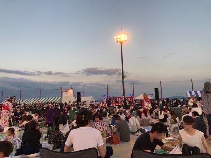 「第19回 有明海花火フェスタ」へ訪れた様子 メイン会場