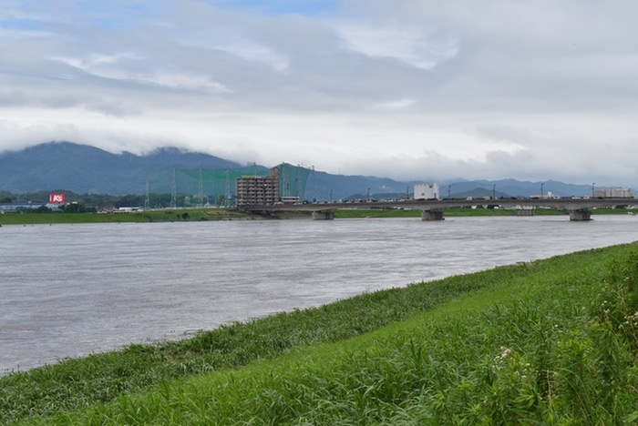 2018年7月7日 久留米市 筑後川(豆津橋〜筑後川大堰)付近の状況