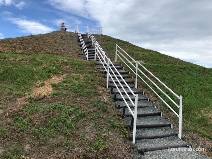 柳川ひまわり園 高台 階段