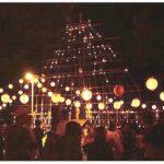 溝口竈門神社千灯明祭 1,000年以上の歴史を持つ神社の伝統行事